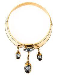 Alexander McQueen - Metallic Jewel Drop Choker - Lyst