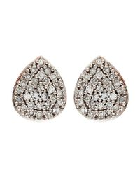 Monica Vinader - Metallic Alma Stud Earrings - Lyst