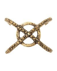 Lucky Brand - Metallic Xo Pave Ring - Lyst