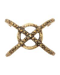 Lucky Brand   Metallic Xo Pave Ring   Lyst