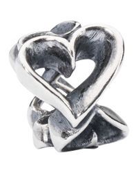 Trollbeads | Metallic Hearts Galore Sterling Silver Charm | Lyst