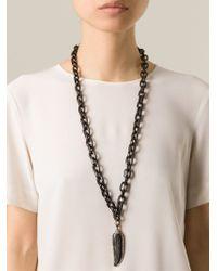 Loree Rodkin - Black Diamond Feather Chain Necklace - Lyst
