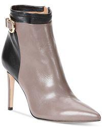 Calvin Klein | Brown Cadie Dress Booties | Lyst