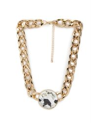 Forever 21 | Multicolor Faux Gemstone Pendant Necklace | Lyst