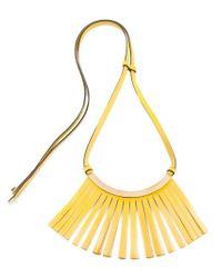 Marni - Metallic Fringed Necklace - Lyst