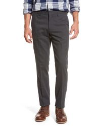 Bonobos | Gray 'flatiron' Slim Fit Flat Front Trousers for Men | Lyst