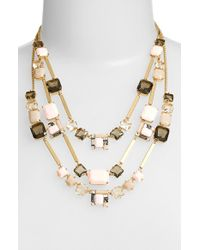 kate spade new york | Metallic 'neapolitan' Multistrand Necklace - Blush Multi | Lyst