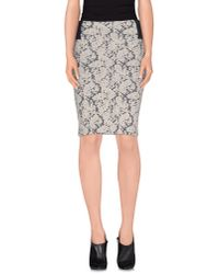 Vero Moda - Gray Knee Length Skirt - Lyst