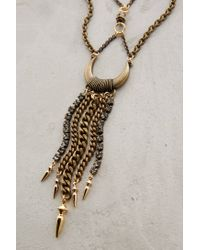 Anthropologie | Metallic Chained Crescent Necklace | Lyst