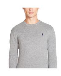 Polo Ralph Lauren | Gray Pima Cotton Crewneck Sweater for Men | Lyst