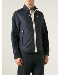 Moncler gamme bleu Classic Windbreaker Jacket in Blue for Men | Lyst