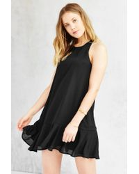 Lucca Couture | Black Drop-waist Shift Dress | Lyst