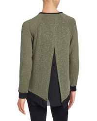 Lord & Taylor | Green Layered-effect Sweater | Lyst