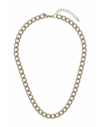 TOPSHOP | Metallic Textured Curb Chain Necklace | Lyst