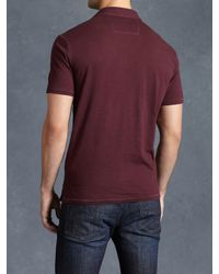 John Varvatos - Red Soft Collar Peace Polo for Men - Lyst