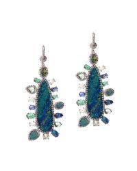 Nina Runsdorf | Metallic Opal Multi-stone Earrings | Lyst
