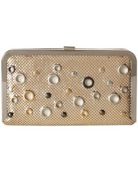 Jessica Mcclintock | Metallic Kelly Clutch | Lyst
