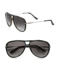 Ferragamo - Brown 60mm Gladiator Aviator Sunglasses for Men - Lyst