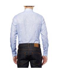 Etro - Blue Slimfit Paisleypatterned Cotton Shirt for Men - Lyst