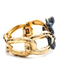 Alexis Bittar - Metallic Encrusted Serpent Link Hinge Bracelet You Might Also Like - Lyst