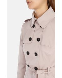Karen Millen | Natural Cotton Trench Coat | Lyst