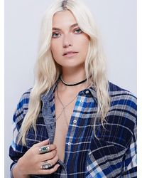 Free People - Blue Plaid Molly Tunic - Lyst