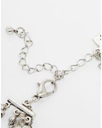 ASOS - Metallic Illusion Choker Multirow Necklace & Dreamcatcher - Lyst
