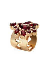 Mawi | Multicolor Floral Crystal Ring | Lyst