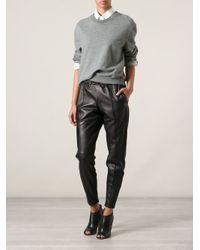 Muubaa - Black Leather Jogging Pants - Lyst