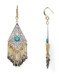 Aqua | Metallic Marni Fringe Chandelier Earrings | Lyst
