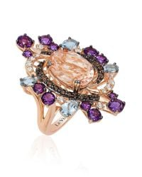 Le Vian | Metallic Crazy Semi-precious, Multi-stone And 14k Strawberry Gold Cocktail Ring | Lyst