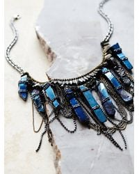 Free People | Blue Deepa Gurnani Womens Ashlyn Statement Crystal Necklace | Lyst