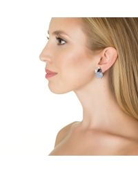 Bounkit | Purple Chalcedony, Iolite, And Clear Quartz Earrings | Lyst