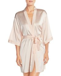 Mimi Holliday by Damaris - Pink 'lilium' Silk Robe - Lyst