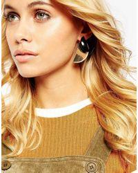 ASOS | Metallic Crescent Mismatch Earrings | Lyst