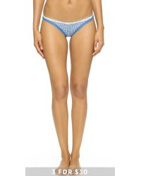 Calvin Klein - Blue Bottoms Up Thong - Steel Grey - Lyst