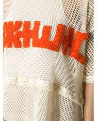 KTZ - White Mesh Apron Tshirt - Lyst