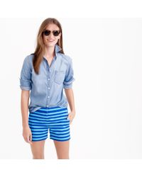 J.Crew | Blue Striped Short In Bright Ocean | Lyst