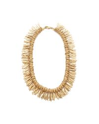Elizabeth Cole | Metallic Embellished Statement Necklace | Lyst