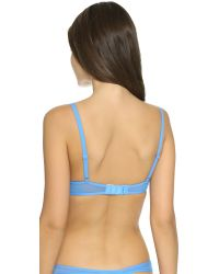 Calvin Klein - Blue Spree Plunge Push Up Bra - Black - Lyst