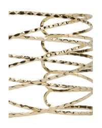 AKIRA - Metallic Woven Wire Cuff Bracelet - Lyst