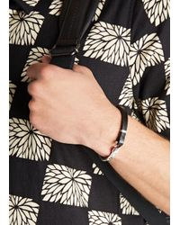 Miansai | Metallic Mav Sterling Silver And Leather Bracelet for Men | Lyst
