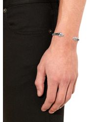 Alexander McQueen - Metallic Skull Bracelet for Men - Lyst