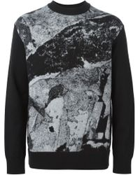 Givenchy - Black Love Intarsia Sweater for Men - Lyst