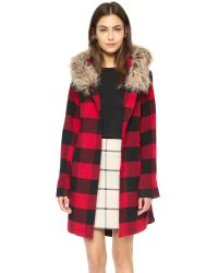 BB Dakota | Jaslene Buffalo Plaid Coat - Red | Lyst