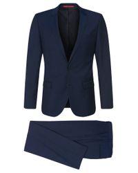 HUGO - Blue Regular-fit Suit In New Wool: 'amaro1/heise' for Men - Lyst