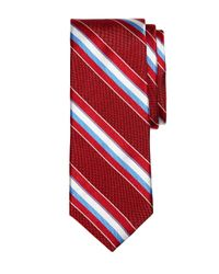 Brooks Brothers | Red Natte Wide Stripe Tie for Men | Lyst