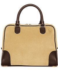 Loewe | Metallic Amazona 75 Large Bag, Women's, Gold/brown | Lyst