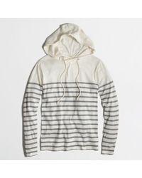 J.Crew - Gray Factory Drop Stripe Hoodie - Lyst