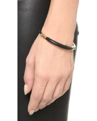 Alexis Bittar | Black Id Bangle Bracelet | Lyst